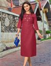 image of Festive Style Maroon Thread Embroidered Kurti In Cotton Fabric
