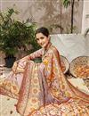photo of Cream Traditional Wear Designer Digital Printed Art Silk Saree
