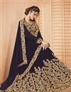 photo of Wine Color Party Style Designer Embroidered Sharara Top Lehenga In Georgette