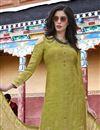 photo of Designer Party Wear Art Silk Salwar Kameez In Sea Green