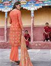 photo of Orange Designer Party Wear Salwar Suit In Art Silk