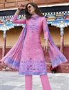 image of Designer Art Silk Party Wear Salwar Kameez In Pink