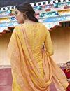 photo of Art Silk Yellow Designer Party Wear Salwar Suit