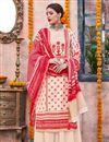 image of Designer Cream Traditional Wear Palazzo Dress In Linen Fabric