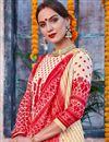 photo of Designer Traditional Wear Cream Color Palazzo Dress In Linen Fabric