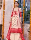 image of Designer Traditional Wear Cream Color Palazzo Dress In Linen Fabric