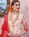 photo of Linen Fabric Designer Traditional Wear Palazzo Suit In Cream Color
