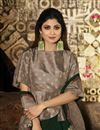 photo of Eid Special Shilpa Shetty Designer Party Style Dark Green Art Silk Saree With Fancy Blouse