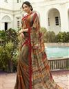 image of Georgette Alluring Multi Color Festive Wear Printed Saree