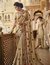 image of Traditional Beige Party Wear Designer Art Silk Embroidered Saree