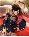 photo of Function Wear Navy Blue Color Satin Fabric Pakistani Style Sharara Suit