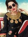 photo of Black Color Function Wear Pakistani Style Sharara Dress In Satin Fabric