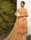 image of Peach Color Festive Wear Digital Printed Palazzo Dress In Georgette Fabric