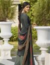 photo of Grey Color Festive Wear Printed Palazzo Dress In Crepe Fabric