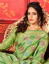 photo of Green Color Festive Wear Designer Weaving Work Saree In Art Silk Fabric