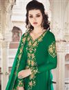 photo of Georgette Fabric Green Color Function Wear Designer Anarkali Dress