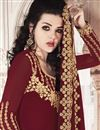 photo of Georgette Fabric Maroon Color Function Wear Designer Sharara Dress
