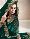 photo of Function Wear Designer Dark Green Color Anarkali Suit In Georgette Fabric