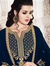 photo of Georgette Fabric Designer Navy Blue Color Function Wear Salwar Suit