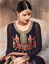 photo of Georgette Fabric Black Color Function Wear Anarkali Salwar Kameez