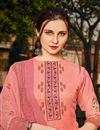 photo of Georgette Fabric Sangeet Wear Classic Printed Palazzo Dress In Pink Color