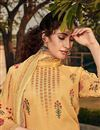 photo of Classic Sangeet Wear Georgette Fabric Yellow Color Printed Palazzo Suit