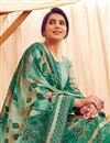 photo of Pashmina Fabric Casual Wear Classic Printed Palazzo Dress In Teal Color
