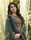 photo of Cotton Fabric Stylish Printed Daily Wear Palazzo Salwar Suit In Green Color