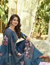 photo of Cotton Stylish Printed Daily Wear Palazzo Salwar Suit In Blue Color