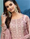 photo of Pink Color Festive Wear Printed Fancy Fabric Palazzo Dress