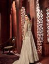 photo of Cream Color Chic Function Wear Embroidered Anarkali Dress In Net Fabric