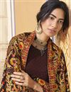 photo of Party Wear Fancy Brown Color Palazzo Suit In Georgette Fabric