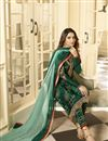 photo of Jasmin Bhasin Green Color Party Wear Embroidered Straight Cut Suit In Satin Georgette Fabric