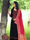 image of Black Color Art Silk Fabric Fancy Embroidered Palazzo Dress