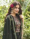 photo of Dark Beige Color Cotton Fabric Fancy Printed Palazzo Dress