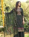 image of Dark Beige Color Cotton Fabric Fancy Printed Palazzo Dress