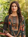 photo of Cotton Fabric Grey Color Fancy Printed Palazzo Suit