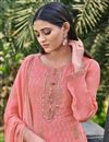 photo of Festive Wear Chinon Fabric Chic Embroidered Pink Color Palazzo Suit