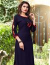 photo of Banglori Silk Casual Wear Kurti With Embroidered Koti