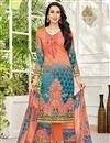 image of Karishma Kapoor Salmon Embellished Fancy Designer Suit