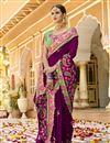 photo of Purple Art Silk Fabric Festive Wear Saree With Embroidery Work