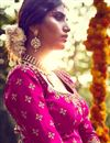 photo of Ready To Ship Sumptuous Pink Color Bridal Lehenga Choli In Bhagalpuri Fabric