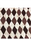 photo of Brown Vector Graphic Prints On Rayon Fabric