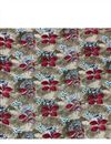 photo of Designer Flowers And Leaves Print On Rayon Fabric