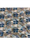 image of Flowers And Leaves Print On Rayon Fabric