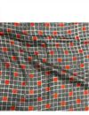 image of Square Prints On Rayon Fabric In Grey Color