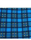 photo of Checks Print On Rayon Fabric In Blue Color