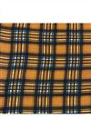 photo of Checks Print On Rayon Fabric In Mustard Color