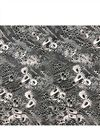 image of Muslin Digital Print Fabric In Black