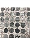 image of Off White Color Muslin Digital Print Fabric